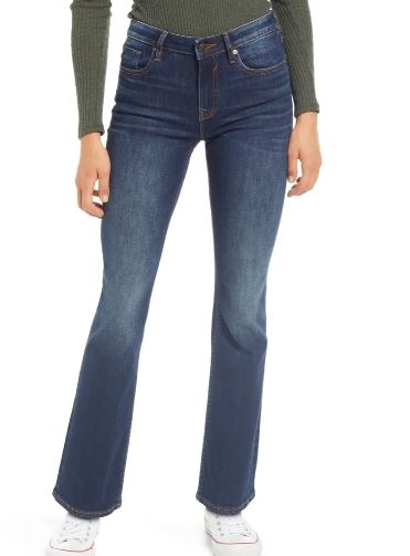 petite flare jeans: Bootcut petite flare jeans