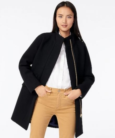 different types of jackets: Cocoon shape jacket