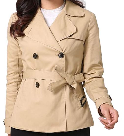 different types of jackets: cropped trench