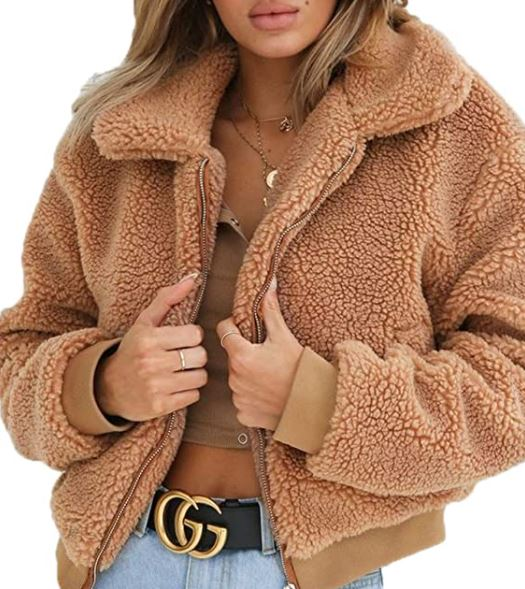different types of jackets: cropped fur