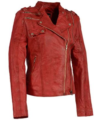 petite leather jacket: asymmetrical leather jacket with zippers