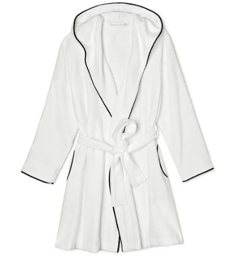 petite robes: hooded robe